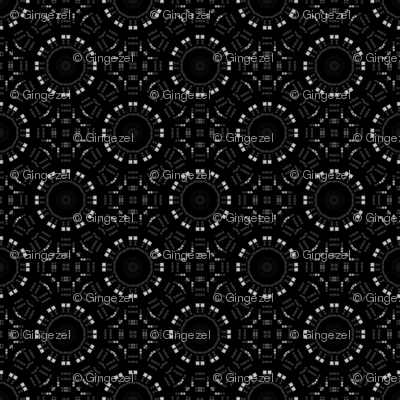 Charcoal Gray Circles Mosaic
