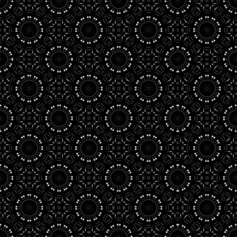 Charcoal Gray Circles Mosaic fabric by gingezel on Spoonflower - custom fabric