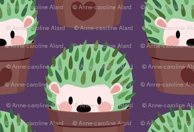 Large Cactus-Hedgehog (dark purple)