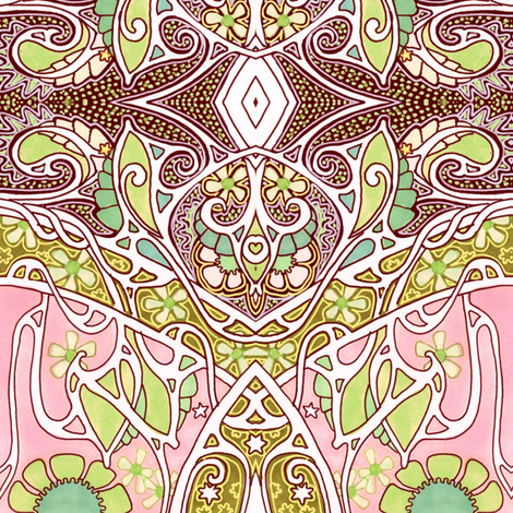 Halfway to Bombay fabric by edsel2084 on Spoonflower - custom fabric