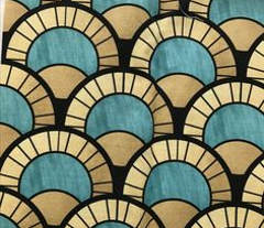 Duck Egg Art Deco Pattern
