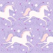 Dancing Unicorn in Lilac Dream