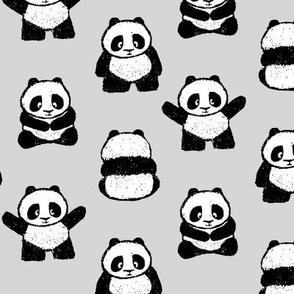 pandas on fog    pandamonium