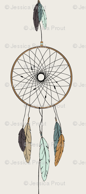 (jumbo scale) dreamcatcher // mint & teal