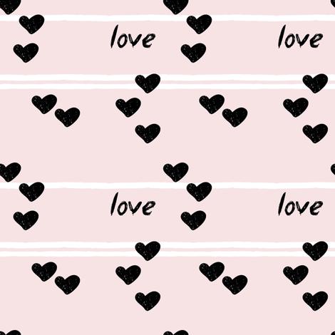 love on blossom    pandamonium fabric by littlearrowdesign on Spoonflower - custom fabric