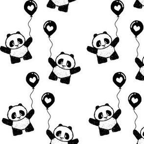 pandas on balloons || pandamonium