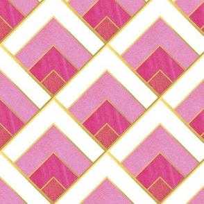 Pink Diamond Art Deco Diamond Pattern