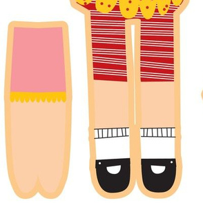 cut and sew doll fat  quarter