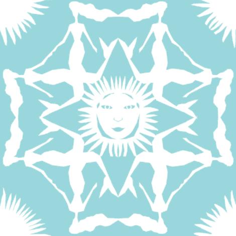 Little Mermaid Cutout design fabric by katerinadesigns on Spoonflower - custom fabric