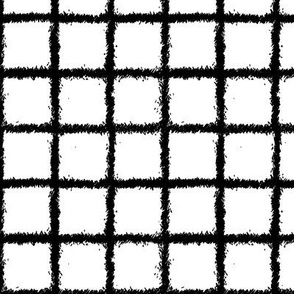 grid sketch on white || pandamonium