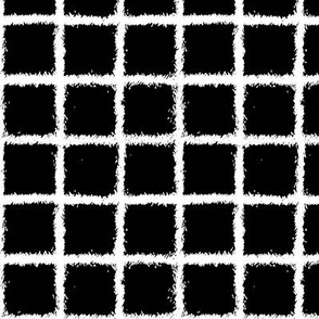 grid sketch on black || pandamonium