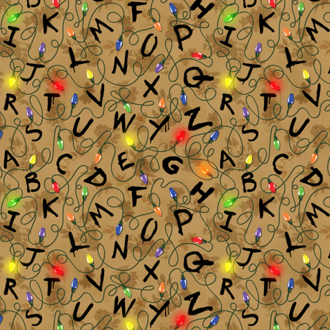 Smaller version, R-I-G-H-T-H-E-R-E fabric by tabpin on Spoonflower - custom fabric
