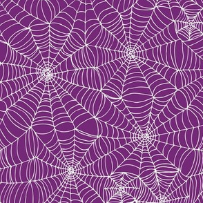 Spiderwebs - purple on white