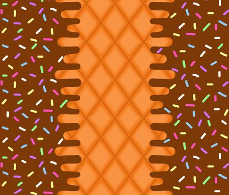 Chocolate Ice Cream Border fabric by interrobangart on Spoonflower - custom fabric