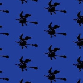 Witch Silhouettes – Black on Blue