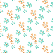 gold and teal flowers