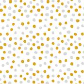 yellow and grey dots coordinate mustard and grey dots fabric