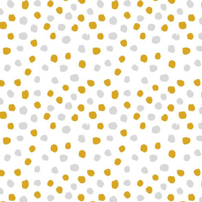yellow and grey dots coordinate mustard and grey dots fabric