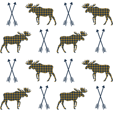 moose arrows checked arrows moose design boys nursery camping fabric by charlottewinter on Spoonflower - custom fabric