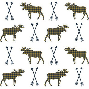 moose arrows checked arrows moose design boys nursery camping