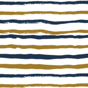 navy blue and gold stripes hand-painted stripe coordinate