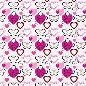 Heart And Butterfly Pattern - Small