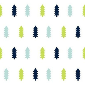 trees forest woodland camping outdoors baby boy nursery navy mint lime green kids nursery fabric