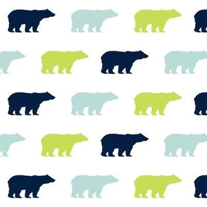 bears bear fabric nursery baby boy navy mint and lime green baby nursery fabrics