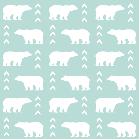 Bear mint bears fabric baby boy nursery kids bear fabric for Boy nursery fabric