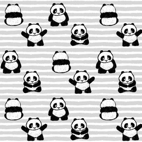 little pandas on stripes || pandamonium