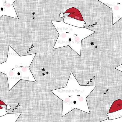 sleepy stars (micro scale) || holiday red