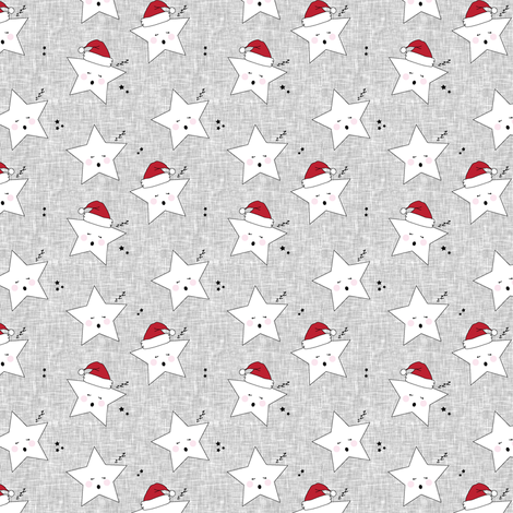sleepy stars (micro scale) || holiday red fabric by littlearrowdesign on Spoonflower - custom fabric