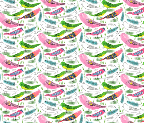 Silverton Birds fabric by zoe_ingram on Spoonflower - custom fabric