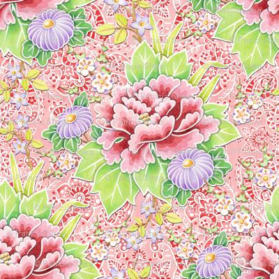 Pink Paisley Kimono Bouquet