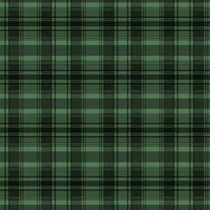 Forest green plaid