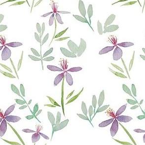 Purple le Grand watercolour pattern