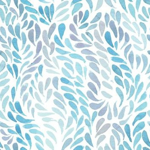 Blue watercolour pattern