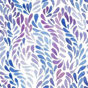 Purple blue watercolour pattern