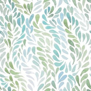 Minty green watercolour pattern