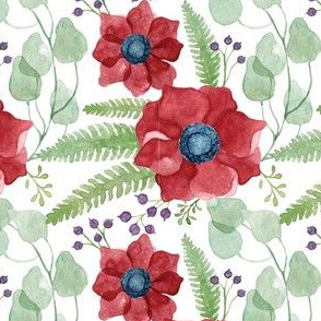 Red Anemones Pattern