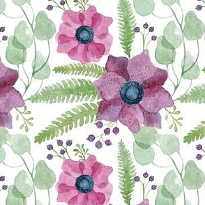 Purple and Pink Anemones Pattern