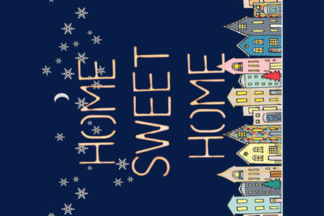 Home Sweet Home fabric by mariden on Spoonflower - custom fabric