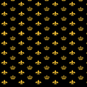 Black and Gold Crowns and Fleur de Lis