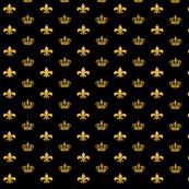 Black and Gold Crowns and Fleur de Lis