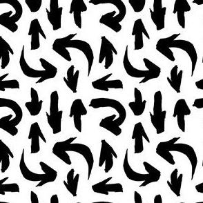 Ink Arrows Seamless Pattern