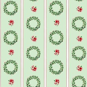 Christmas Wreaths Stripe