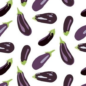 Eggplant Vegetable Food Garden Gardener White Aubergine _Miss Chiff Designs