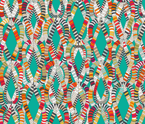 knot drop turquoise fabric by scrummy on Spoonflower - custom fabric