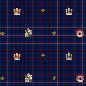 Navy Plaid Crowns