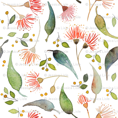 Eucalyptus scatter - watercolour